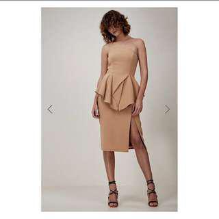 Cameo Flawless Midi Dress - Nude