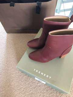 Country road Womens size 37 burgundy ankle boot brand new