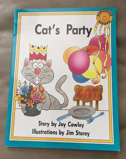SUNSHINE BOOKS Cat's Party 小學一年級英文故事書