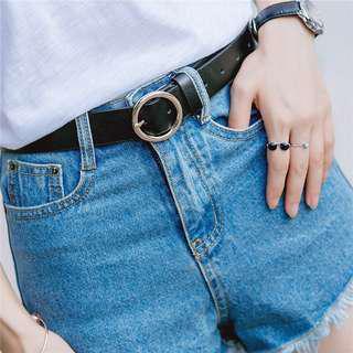 Korean Round Buckle Belts