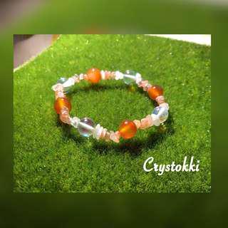 Sunstone x Moonstone Handmade Crystal Bracelet