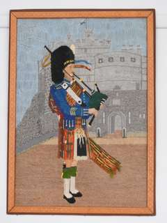 Antique woven Scottish portrait