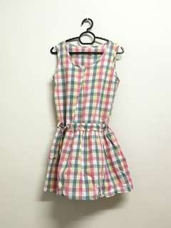 colorful Checkered Dress