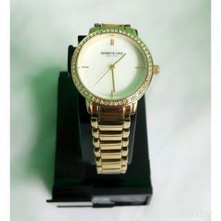 Kenneth Cole Gold-Tone Glitz Stainless Steel Watch