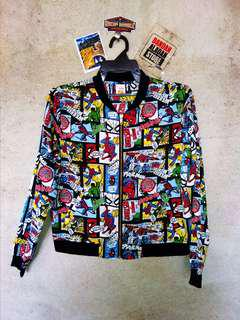 Marvel comics spiderman fullprint jacket