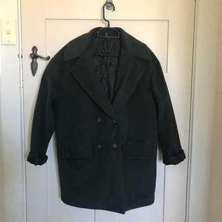Dark olive green coat