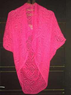 outer rajut pink