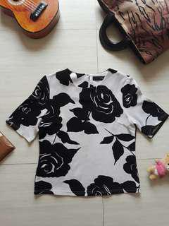 Black Roses Blouse