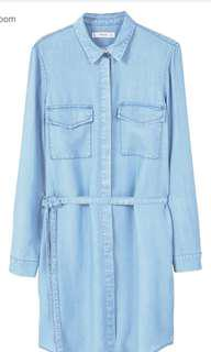 MANGO DENIM DRESS LIGHT BLUE (Original)