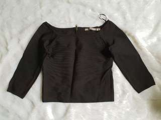 Auth Guess bandage Off shoulder Small