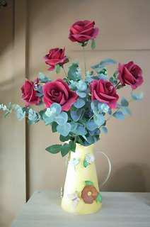 Artificial Flower Arrangement + vase