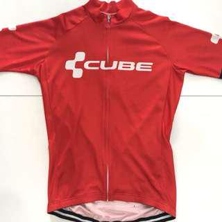 Used Cube cycling jersey & shorts M size