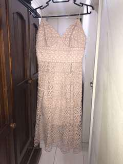 Forever New pretty in pink lace dress