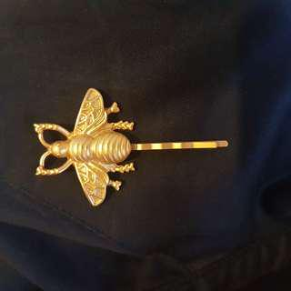 Matt Gold Insect Hairpin