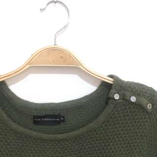 The Executive Army Sweater
