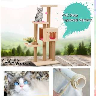 [New Arrival] solid wood cat trees cat condos wooden cat towers cat scratchers scratching posts
