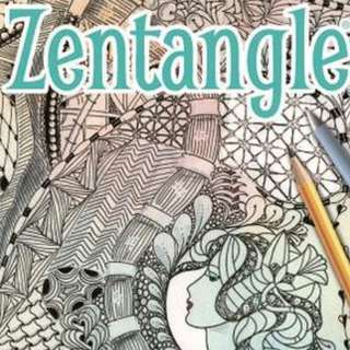 Limited quantity . Zentangle . a book by Jane Marbaix . new copy