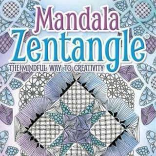 Limited quantity . Zentangle Mandala . a book by Jane Marbaix . new copy