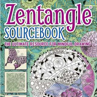 Limited quantity . Zentangle Sourcebook . a book by Jane Marbaix . new copy