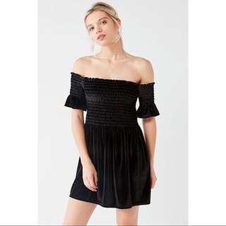 Urban Outfitters Off-The-Shoulder Velvet Dress