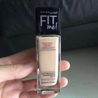 Maybelline fit me dewy+smooth foundation 115 ivory