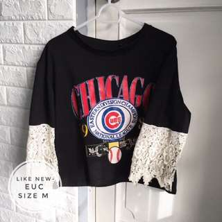 Semi Cropped Graphic Top