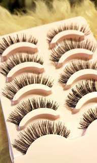 PREORDER FREE POSTAGE black false eyelashes lash extensions whispies lashes fake makeup