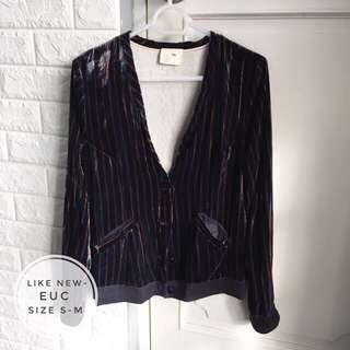 Velvet Jacket/Cardigan/Blazer