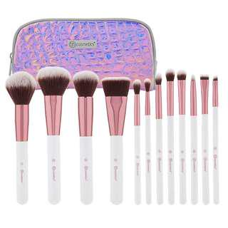 BH Cosmetics Crystal Quartz 12 Piece Brush Set