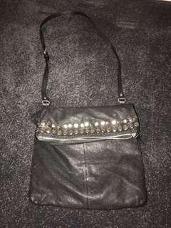 Country Road - black studded shoulder bag