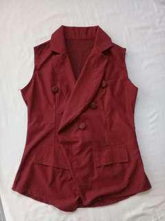 Rompi / Woman Vest Merah