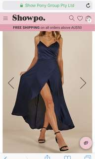 Showpo the Countless Dress In Midnight Blue