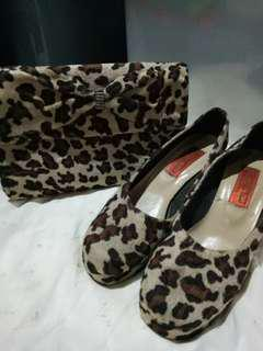Set of shoe and purse