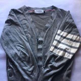 Thom Browne Classic Cardigan Knitwear Grey