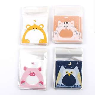 NEW 7cm Mini Animal Design Cookie or Candy Plastic Pouch 20 pcs