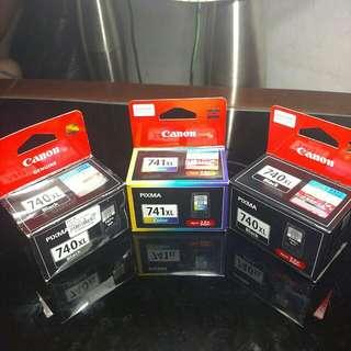 Combo CANON Pixma 2x PG-740XL & 1x CL-741XL Ink Cartridge