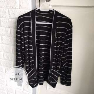 Striped Cardigan with Pockets