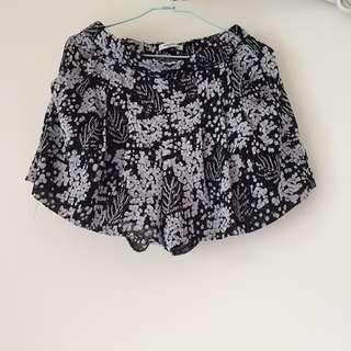 Mango花紋氣質褲裙