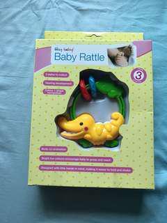 Rattle Hey Baby! Swing Rattle Crocodile yellow Shaped Swing Rattle New 3 mths+