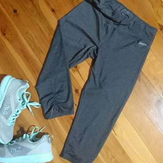 Women's size M 'CALVIN KLEIN' Performance activewear grey  3/4 Leggings - AS NEW