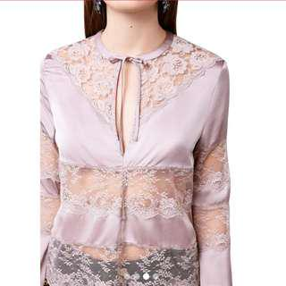 Rose gold lace top