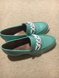 Windsor smith blue mint shoes