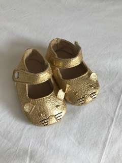 Gold mouse baby pram shoes