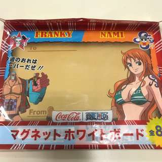Coca Cola x One Piece 奈美磁石記事板連筆 海賊王 可口可樂