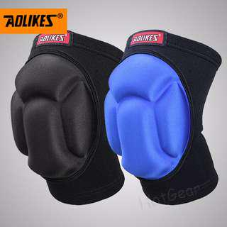 🚚 Sports KneePad ◇ Premium Quality Thick Sponge Joint Protector Professional Knees Protective Guard Anti Slip Protection Collision Avoidance Knee Sleeve Knee Pad Indoor Outdoor Sports Climbing Riding (1 Pair)