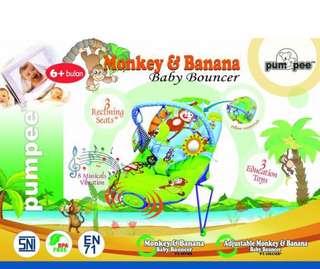 Bouncer Pumpee Monkey & Banana