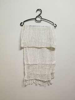 Cream White knit Scarf