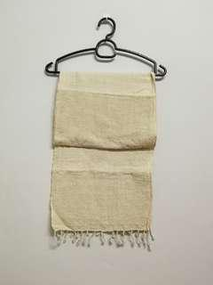 Beige zakka cotton scarf