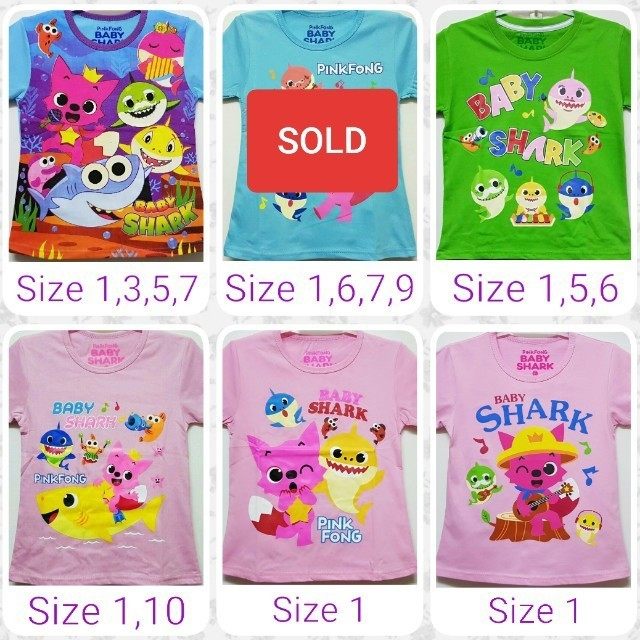 1f4e7a2d 1for$6 PINKFONG Baby Shark Doo Doo Doo Unisex Tshirt, Babies & Kids, Boys'  Apparel, 1 to 3 Years on Carousell