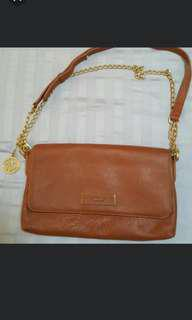 Auth DKNY leather 2 way bag
